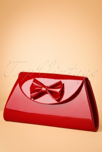 TopVintage Boutique Collection 50s Stella Lacquer Bow Bag in Red