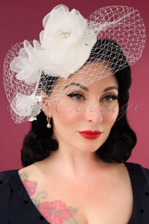 Lovely 28953 Audrey Birdcage Fascinator 20190612 002