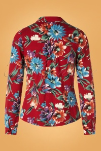 King Louie 29413 60s BlueBell Red Blouse 20190702 006W