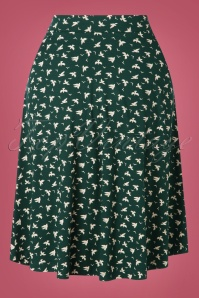 King Louie 29409 60s Sofia Pine Green Bird Skirt 20190620 005W