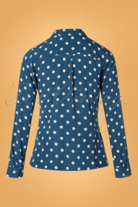King Louie 29373 Autumn Blue Blouse 20190702 007W