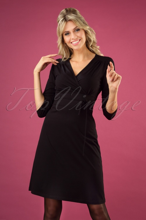 King Louie 29445 60s Cecil Black Dress 20190702 1W