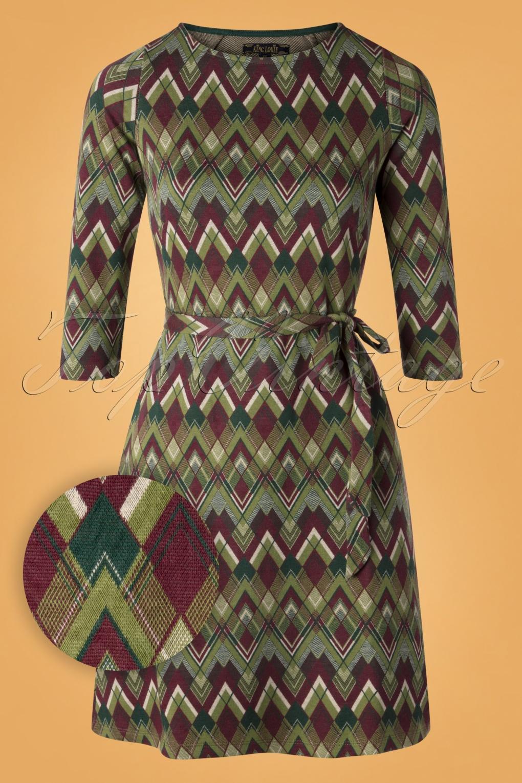 60s Dresses | 1960s Dresses Mod, Mini, Hippie 60s Zoe Skye Dress in Posey Green £81.88 AT vintagedancer.com