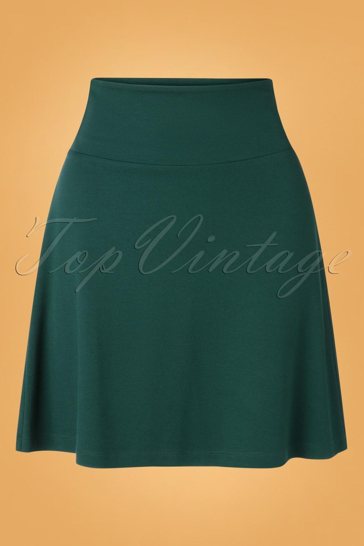60s Skirts | 70s Hippie Skirts, Jumper Dresses 60s Milano Borderskirt in Pine Green �58.26 AT vintagedancer.com