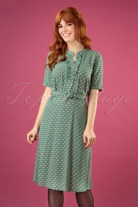 60s Caro Savannah Dress in Fir Green