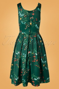 Dolly Dotty 29164 Swingdress Green Bird Flowers 07042019 0007W
