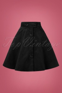 Bunny 70s Wonder Years Mini Skirt in Black Corduroy