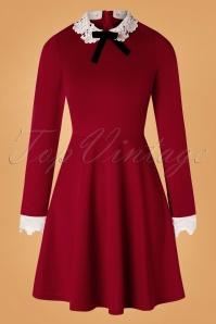 Ricci Dress Années 60 en Rouge