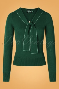 Bunny 40s Connie Jumper in Dark Green