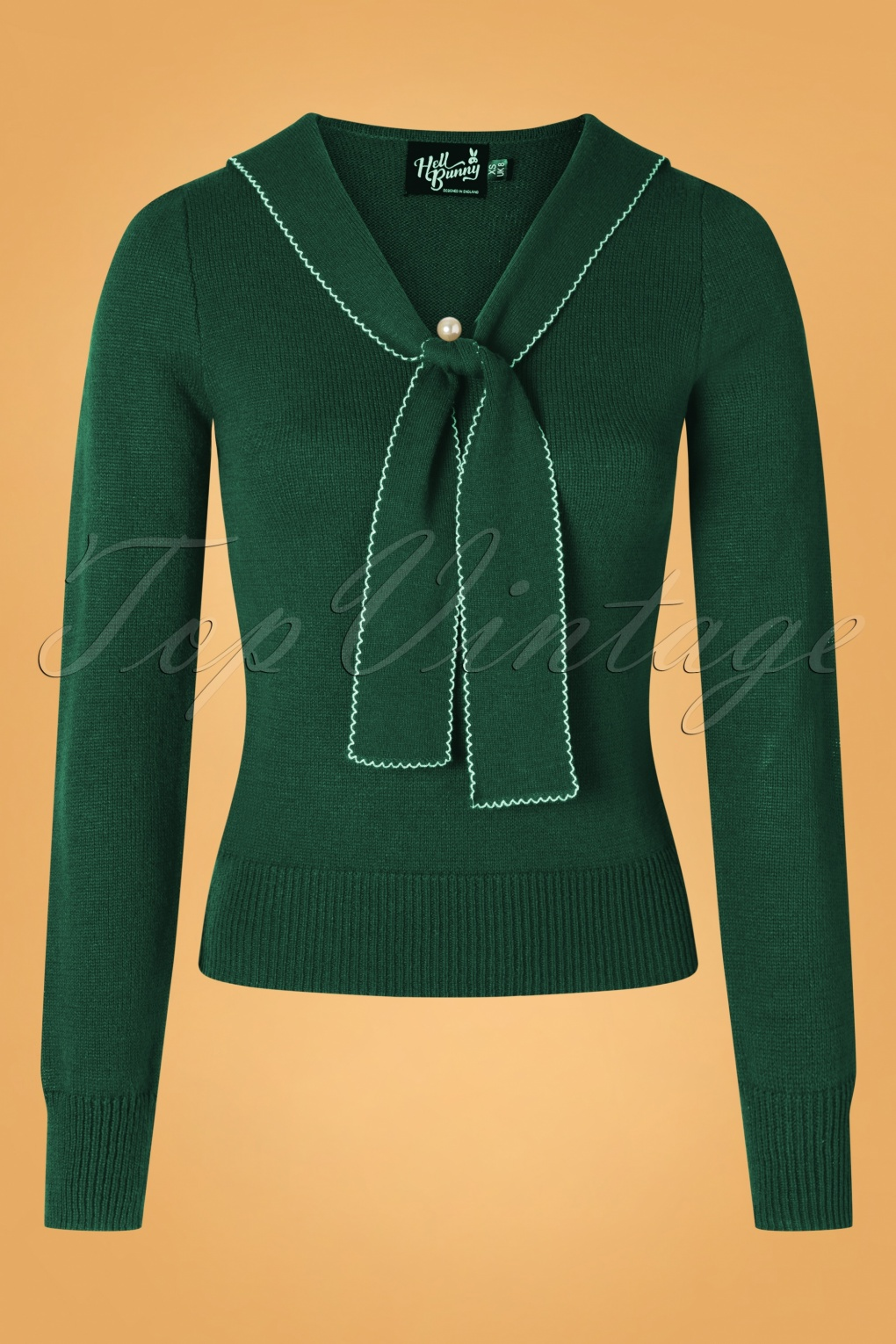 0db041c889daad 1950s Sweaters, 50s Cardigans, 50s Jumpers 40s Connie Jumper in Dark Green   35.87