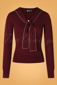 Bunny 40s Connie Jumper in Burgundy