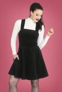 Bunny 30715 Wonder Years Pinafore Dress in Black 30745 Spiros Top in Ivory 20190704 1