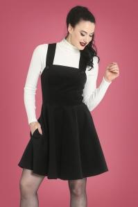 Bunny 30715 Wonder Years Pinafore Dress in Black 30745 Spiros Top in Ivory 20190704 1