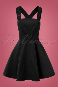 Wonder Years Pinafore Dress Années 60 en Noir