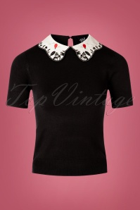 Bunny 60s Red Balloon Top in Black