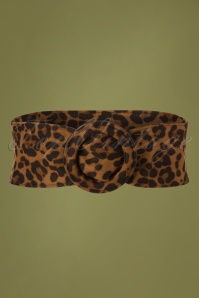50s Gina Waist Belt in Leopard