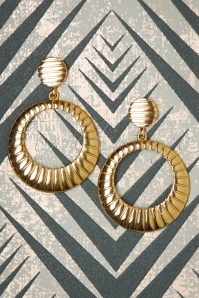 50s Celine Disc Earrings in Gold