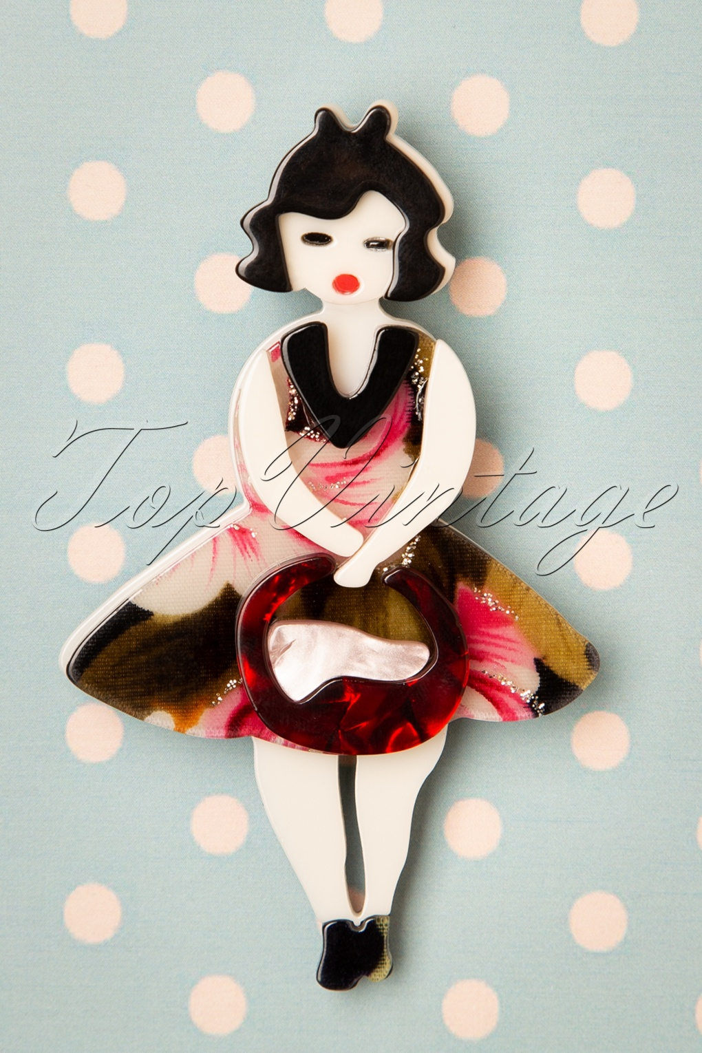 1950 Style Clothing- A Shopping Guide 50s Tiki Queen Brooch £14.52 AT vintagedancer.com