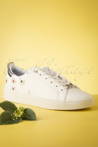 Ted Baker 28701 Sneakers Daisy White Flowers 070419 0008
