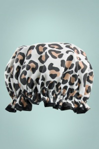 The Vintage Cosmetic Company Showercap in Leopard