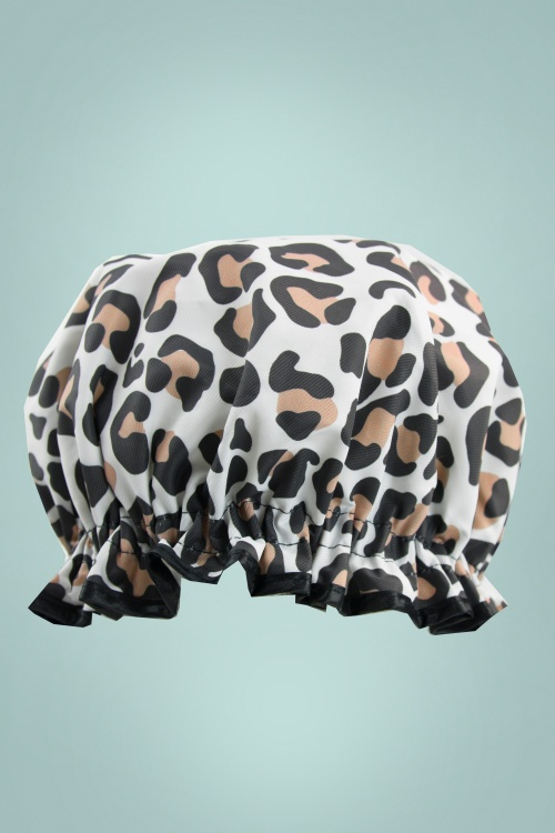 Vintage Cosmetics 31240 Shower Cap Leopard 20190115 016