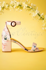 Ted Baker 60s Manyah Floral Satin Sandals in Light Pink