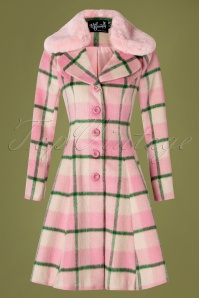 Bunny 50s Millicent Swing Coat in Pink