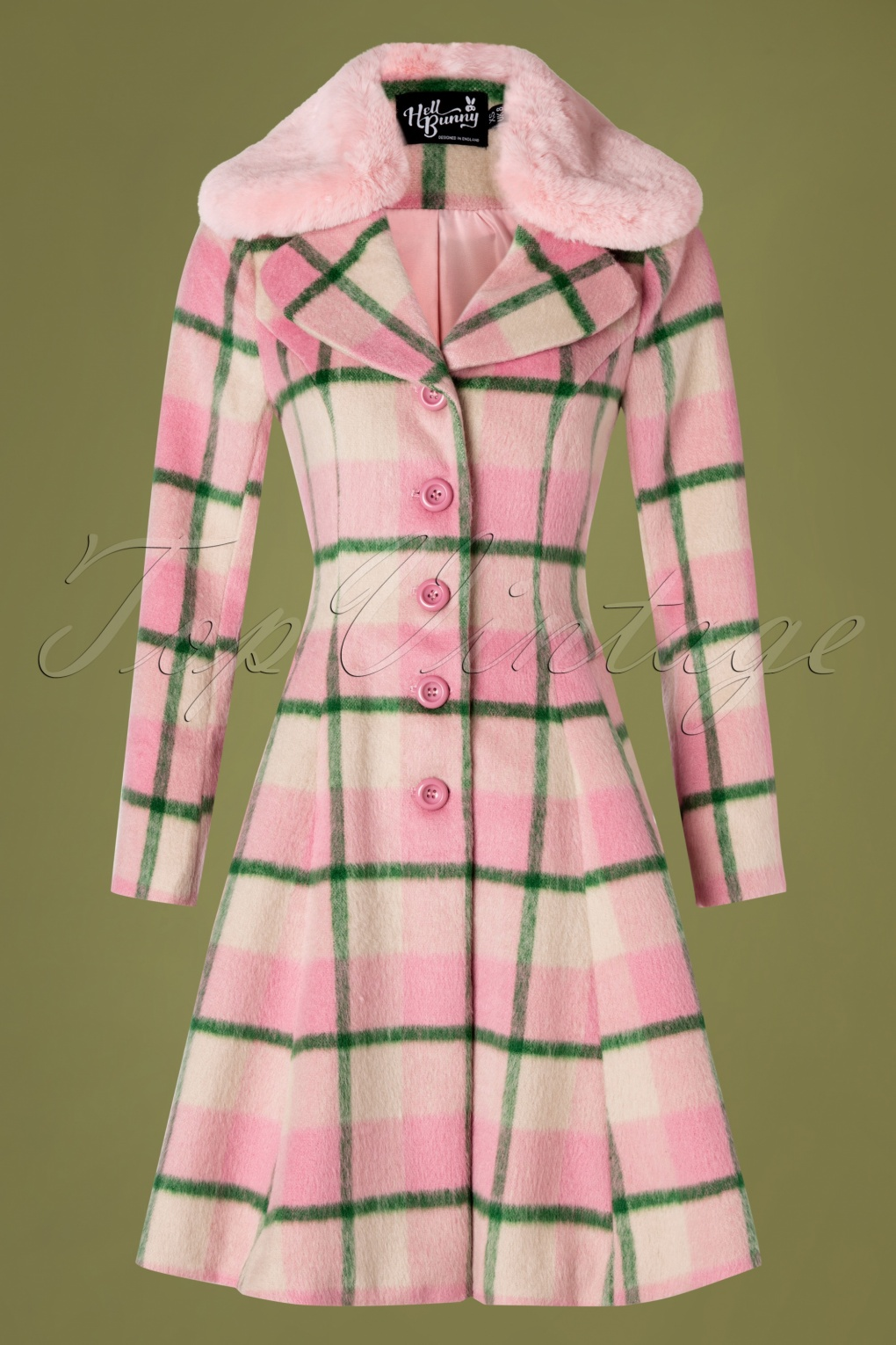 Vintage Coats & Jackets | Retro Coats and Jackets 50s Millicent Swing Coat in Pink £164.19 AT vintagedancer.com