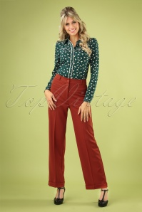 70s Garbo Broadway Pants in Patina Brown