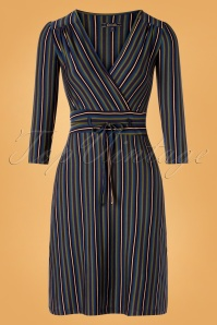 King Louie 29384 Pencildress Black Cecil Stripes Elmore 20190711 0002W
