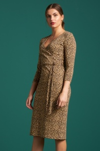 King Louie 50s Anja Perky Dress in Marzipan