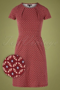 60s Mona Namara Dress in True Red