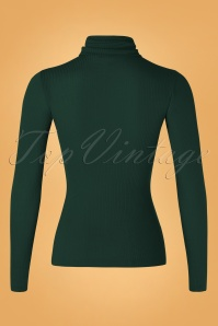 King Louie 29399 Top Rollneck Brunette Pine Green Tencel Rib 20190711 0005W