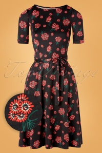 60s Betty Fontana Dress in Black