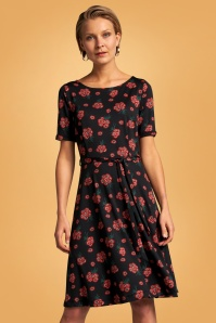 King Louie Betty Fontana Dress Années 60 en Noir