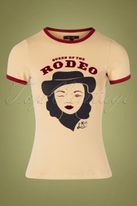 50s Rodeo Queen Tee in Marzipan