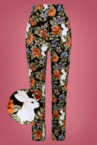 Collectif 29874 Bonnie Forest Floral Trousers 20190430 021LW1