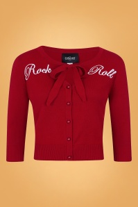 Collectif 29803 Charlene Rock Roll Cardigan in Red 20190430 021LW