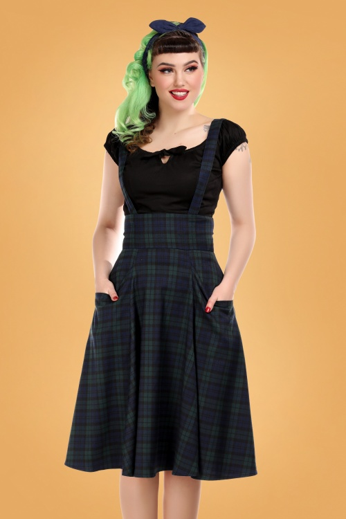 Collectif 29813 Alexa Blackwatch Check Swing Skirt 20190430 020L