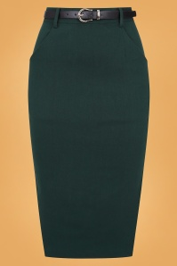 Collectif 29879 Dianne Pencil Skirt in Green 20190430 021LW