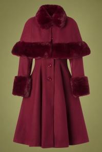 Bunny 30713 Red Fake Fur Capulet Coat 20190715 004W