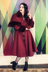 Bunny 30s Capulet Coat in Wine