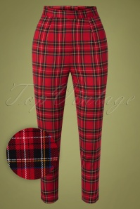 Bunny 30735 Irvine Cigarette Pants in Red 20190715 002W1