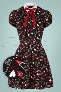 60s Bisous Mini Dress in Black