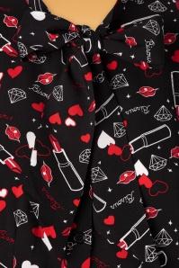 Bunny 30738 Bisous Black Lipstick Blouse 20190715 003W