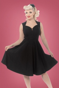 Rebel Love Clothing 50s Vamp Dress in Black
