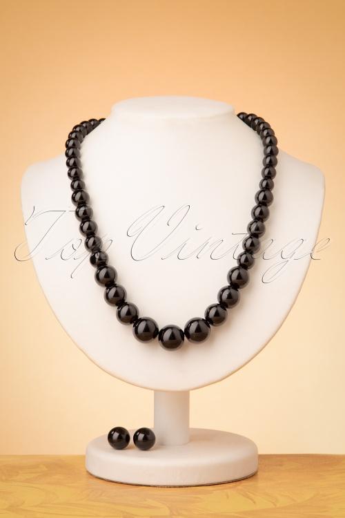 Collectif 30484 Necklace Set Black 20190715 0010W
