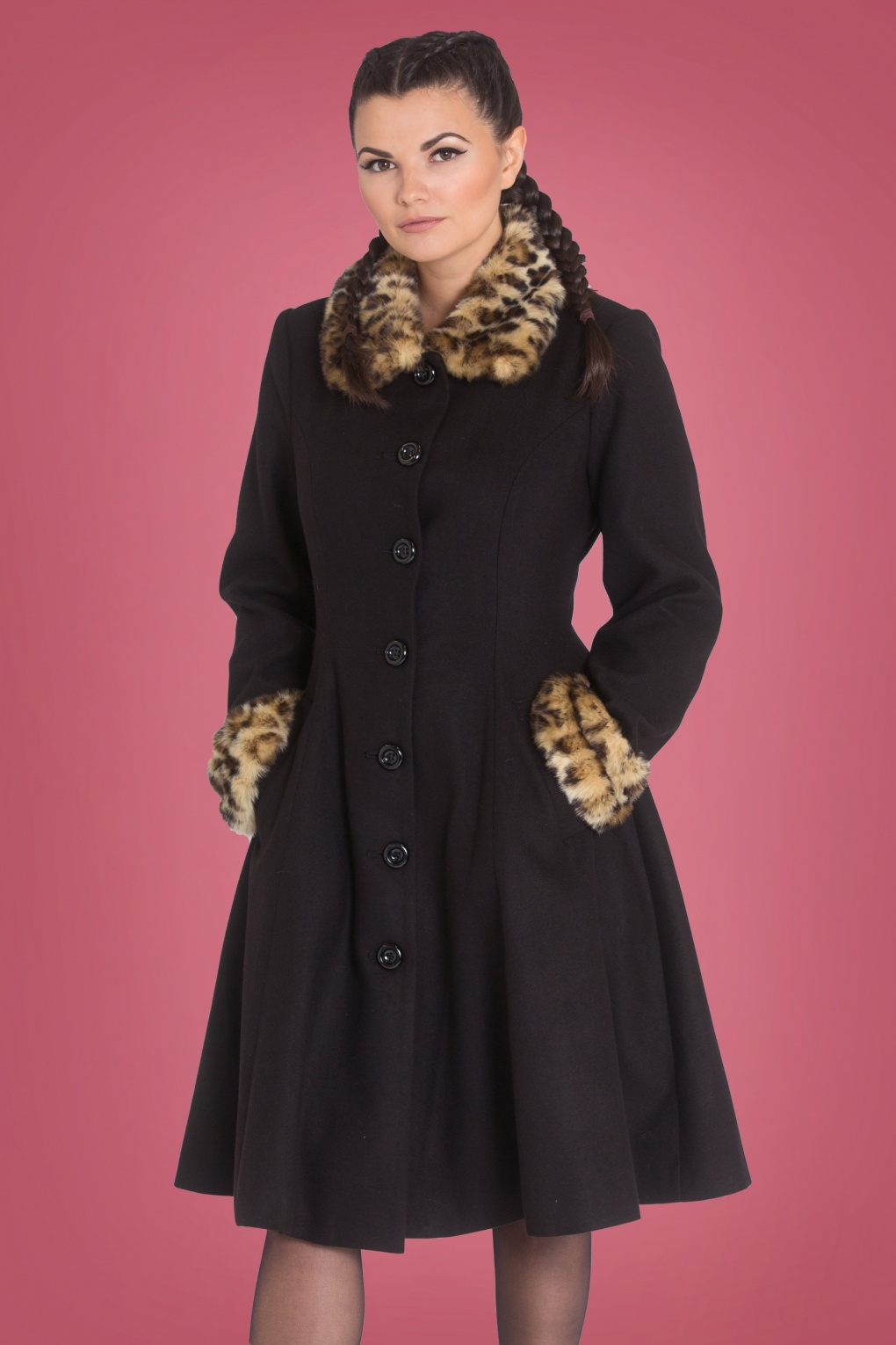 Vintage Coats & Jackets | Retro Coats and Jackets 50s Robinson Coat in Black £125.98 AT vintagedancer.com
