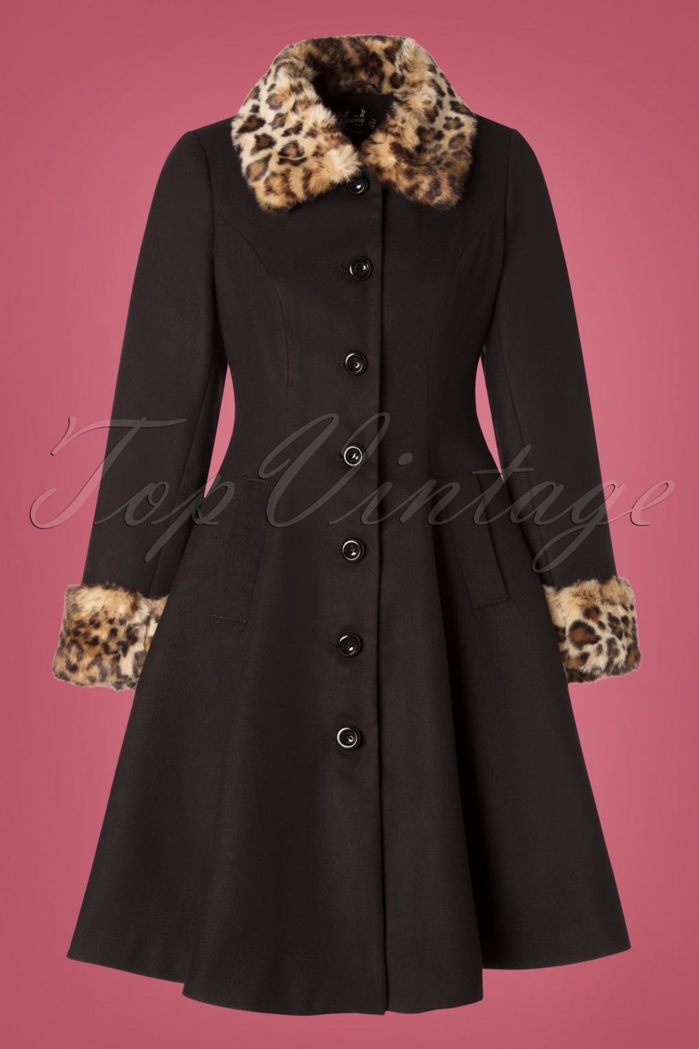 Vintage Coats & Jackets | Retro Coats and Jackets 50s Robinson Coat in Black £98.13 AT vintagedancer.com