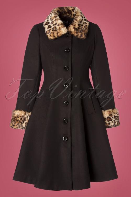 Bunny 30749 Black Leopard Robinson Coat 20190715 003W